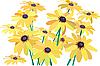 Векторный клипарт: желтые цветы