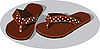 Vector clipart:  summer shoe of sandal in pea