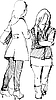 Vector clipart: two girls communicate