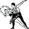 Vector clipart: ballet dancing couples