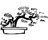 Vector clipart: Tree in pot