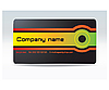Vector clipart: business visit card