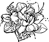 Vector clipart: a small bouquet of roses and snowdrops