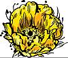 Vector clipart: yellow flower bud