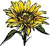 Vector clipart: yellow sunflower design