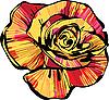 Vector clipart: multi-colored rosebud