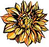Vector clipart: yellow chrysanthemum flower