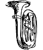 Vector clipart: trumpet musical instrument