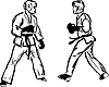 Vector clipart: Karate Kyokushinkai martial arts sports