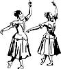 Векторный клипарт: девушка балерина, стоящая в позе