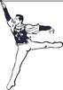Векторный клипарт: Эскиз танцора танцуют на крыло
