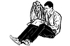 ID 3368803 | Sketch fellow and girl read book | Stock Vector Graphics | CLIPARTO
