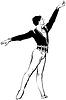 Vector clipart: sketch male ballet dancer standing in pose
