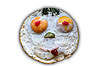 Face of fried eggs | Stock Foto