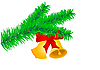 Vector clipart: Two Christmas bells
