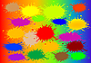 Vector clipart: abstract background with colour blots