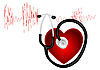 Vector clipart: cardiogram with heart and stethoscope