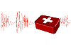 Vector clipart: cardiogram with the first-aid set