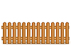 Wooden brown fence | Stock Illustration