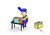 ID 3054790 | Master repariert einen Fernseher | Illustration mit hoher Auflösung | CLIPARTO