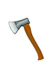 Vector clipart: axe with wooden handle