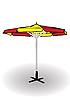Векторный клипарт: пляжный зонтик