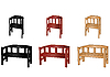 Vector clipart: wooden benches