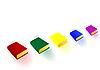 Vector clipart: color big books