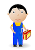 Vector clipart: boy with tool