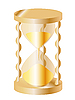Vector clipart: a gold sand-glass
