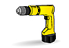 Vector clipart: yellow drill