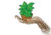 Vector clipart: a green flowerpot