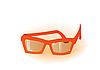 Vector clipart: orange glasses