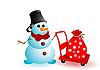 Векторный клипарт: новогодний снеговик