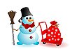 Vector clipart: Christmas snowman