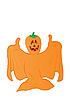 Vector clipart: orange ghost with pumpkin head