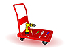 Vector clipart: tools on wheelbarrow