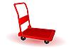 Vector clipart: a red wheelbarrow