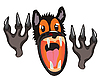 Vector clipart: mouth of the wolf on white