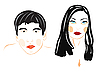 Vector clipart: male and feminine persons