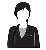 Vector clipart: Silhouette of the girl in suit