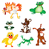 Vector clipart: Wild and pet animal cartoons