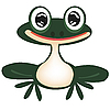 Vector clipart: Green frog on white