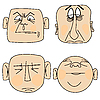 Vector clipart: emotional male faces