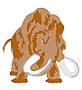 Vector clipart: Prehistorical animal mammoth