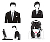 Vector clipart: people silhouettes