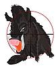 Vector clipart: Wild wild boar in optical target