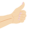 Vector clipart: hand with gesture