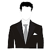 Vector clipart: man silhouette in black suit