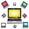 Векторный клипарт: фон из ноутбуков